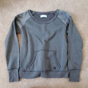 Actra Lightweight Gray Pullover Large